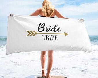 Bride Tribe Beach Towel- Beach Bachelorette party, Bride's Tribe, bride beach towel, bachelorette party favors