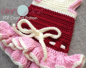 PDF Crochet Pattern - Summer Fun Dog Dress - INSTANT DOWNLOAD
