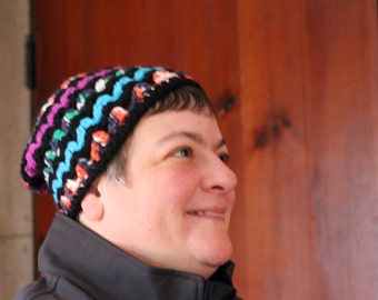Ziggy Zag Whimsy Adult Hat, Ziggy Zag Hat, Whimsy Adult Hat, Winter Hat, Winter Accessory, Adult Hat, Ziggy Zag Hat, Ziggyzag Hat, Hat,