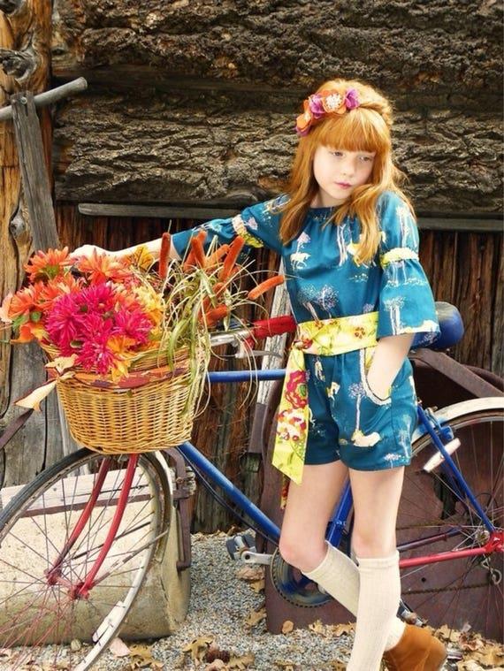 Girls Unicorn Romper – Fall Boutique Romper – Fall Unicorn – Floral and Unicorn Romper – Lace and Floral