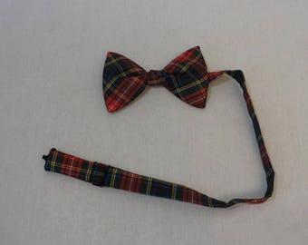 Vintage Bow Tie - Tartan, Plaid - In The Original Packaging - Mens Vintage