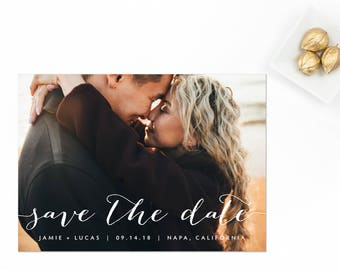 Photo Save the Date, Engagement Photo Save the Date, Picture Save the Date