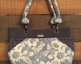 Handmade patchwork purse, original one of a kind, top handle shoulder bag