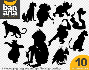 SALE The Jungle Book png jpg svg eps files high resolution BV-FA-0075
