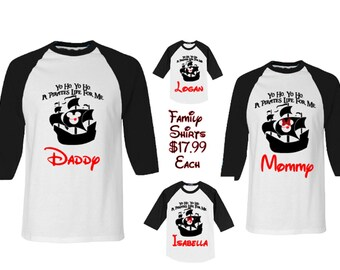 Disney Family Shirts, Disney T shirts, Disney Raglan T Shirts, Disney Group T shirts, Custom Disney Family Shirts, Disney Vacation T shirts