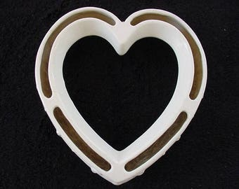 Vintage Heart Ceramic Posey Ring Planter Pansy Ring Centerpiece
