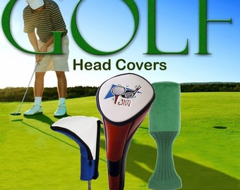 Personalized - embroidered Golf club driver head cover