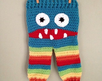 Monster Crochet Rainbow Pants