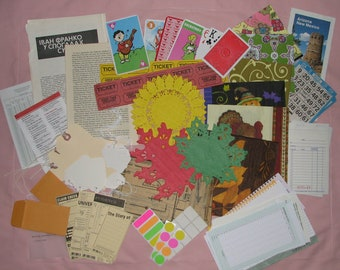Ephemera Paper Pack for Collage, Art Journals and Mixed Media (100+ pieces)