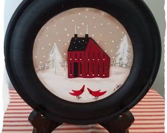 Saltbox Christmas Plate