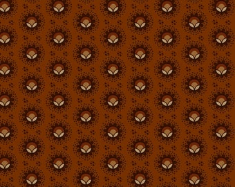 Yardage, Buttermilk Basin by Stacy West, Henry Glass Fabrics, Pumpkin Blossom in Pumpkin, Traditional Quilt, Reproduction Fabric, Civil War