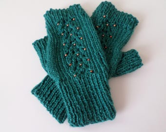 Mittens - Texting Mittens - Beaded Mittens
