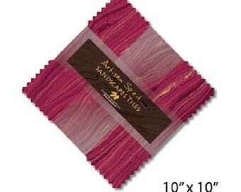 "Artisan Spirit Sandscape Tiles Northcott 42-10"" Cotton Fabric Squares Blush Violet Free Shipping - U.S."