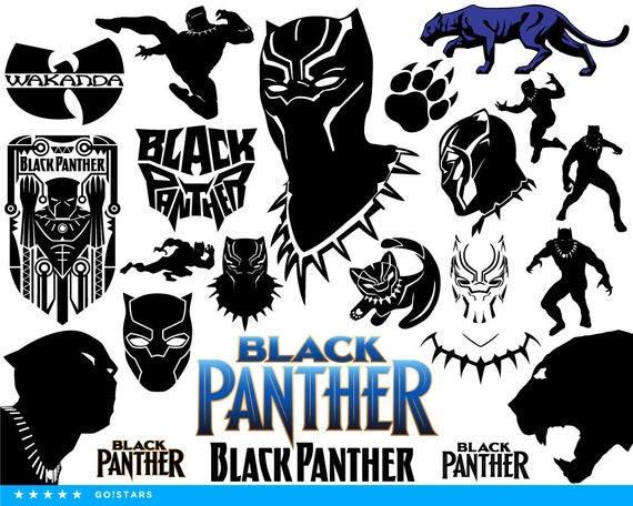black panther svg black panther clipart silhouette black rh etsy com black panther clipart free black panther clipart superhero