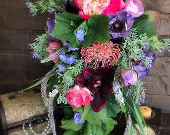 Enchanted Forest Wedding Bouquet, Enchanted Forest Bride Wedding, Cascade Bouquet, Dream Wedding Bouquet, Forest Wedding Bouquet
