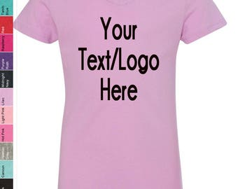 Custom Made Next Level - Girls' Premium Jersey The Adorable V - 3740 Vinyl or Glitter Print Customized Available in all colors