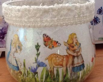 Alice In Wonderland Light Jar, Alice In Wonderland, Alice Night Light, Alice Mood Light, Gift for Her,  Christmas, Alice Table Lamp.
