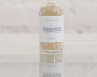 facial cleanser: green tea + rosemary