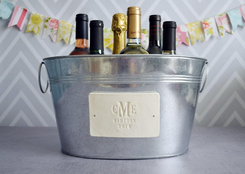 Personalized Wedding Gift Large Beverage Tub