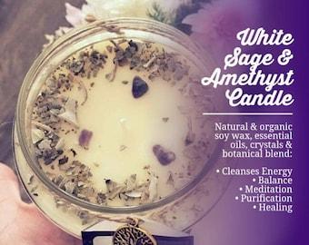 White Sage & Amethyst