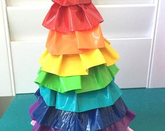 Craft Kit DIY Home Decor RAINBOW Duct Tape Craft KIT Duck Tape Ruffle Tree Home Decor