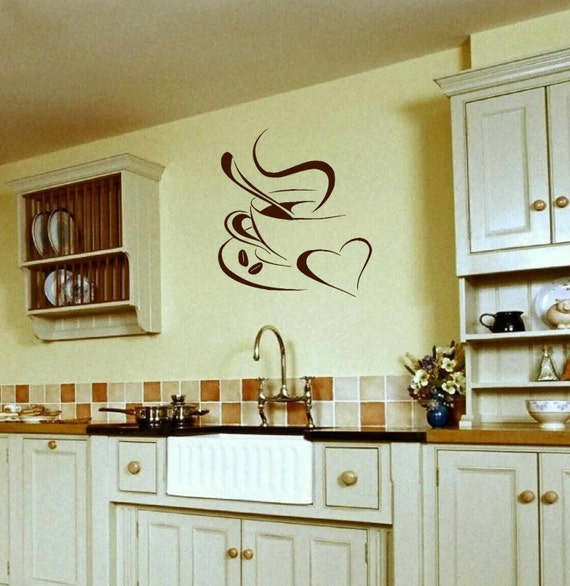 Kitchen wall decal wall vinyls decals art Coffee lovers