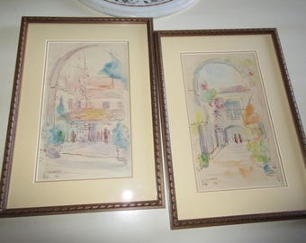ORIGINAL WATERCOLOR PAINTINGS By Jean W. Troemel