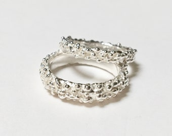 Textured Organic Ring Bands