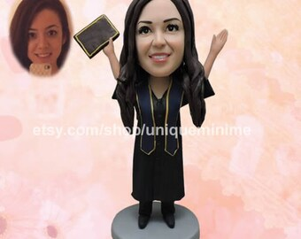 30th birthday gift for girlfriend for her, Custom Figurine Bobblehead dolls