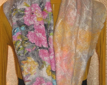 Safi Scarves wool scarves felted Clothes felted Women's clothing