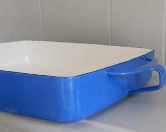 DANSK Royal Blue Roasting  Pan / Enameled Roasting Pan / Kobenstyle Roasting Pan