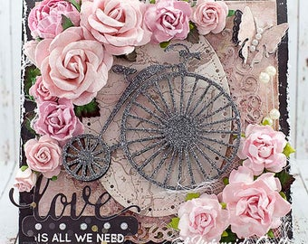 Shabby Chic Love Is All We Need Card for Valentine's Day / Wedding / Anniversary / Just Because Love