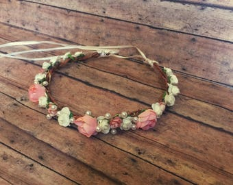 Rustic Baby/child Flower Crown Halo for Photo Shoots! Photo prop/Birthdays!
