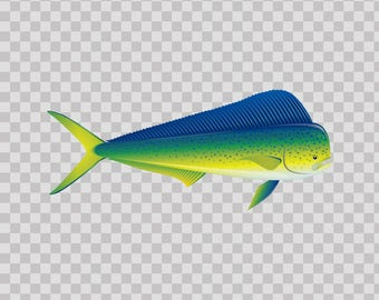 Decals sticker Dorado Dolphin Fishing fish 05920