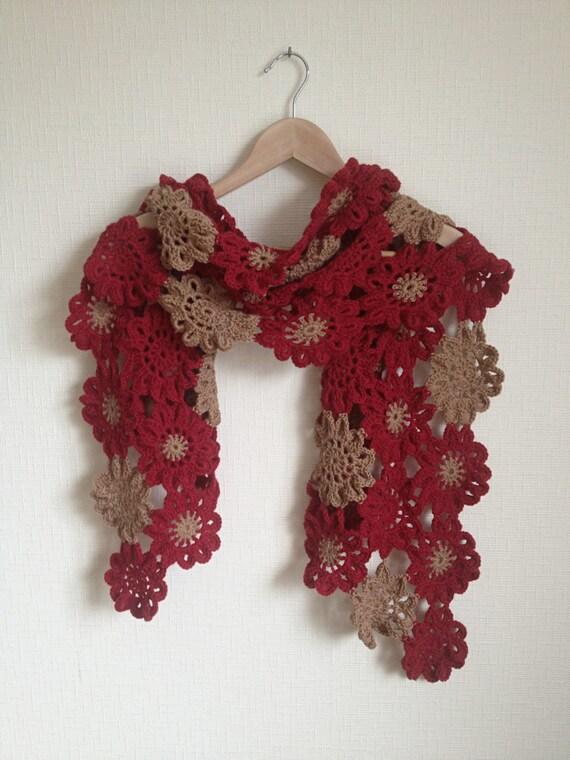 Merino-Wolle häkeln Schal Schal wickeln Oma Platz japanische
