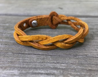 Summer Waves Braided Leather Bracelet