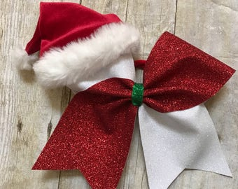 Tic toc bow with Santa hat
