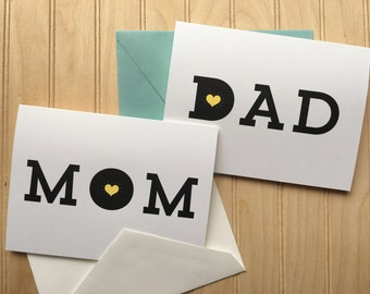 Mom + Dad - Love, Appreciation, Just Because - Blank Card