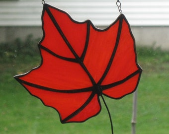Stained Glass Maple leaf # 14
