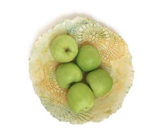 Ceramic lace bowl ceramic bowl fruit bowl ceramic dish ceramic scale pottery dish doily bowl ceramic platter pottery bowl