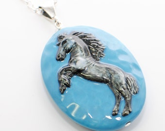 Horse Necklace The Black Beauty - Horse Jewelry - Horse Pendant - Black Stallion - Equestrian - Horse Lover Gift - Equine - Animal Jewelry