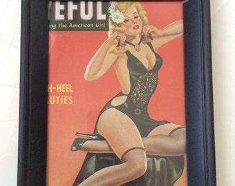 Vintage Pin Up Print - Blonde Burlesque