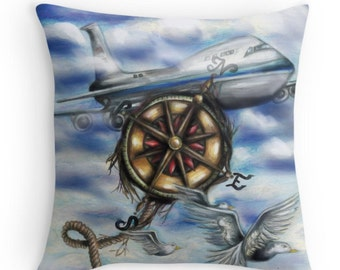 Aviation Airplane Pillow Case
