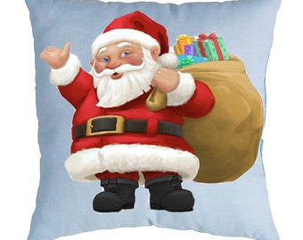 Christmas pillow Santa Claus Holiday gift