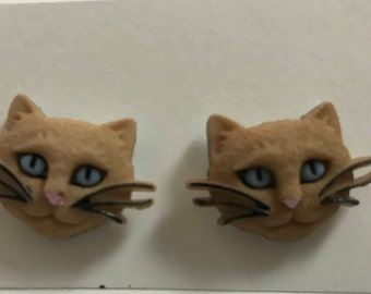 Siamese Cat Face Earrings