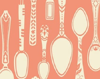 American Cotton - Blend Fabrics designer Ana Davis - pink spoons - covered by 50 cm (110 x)