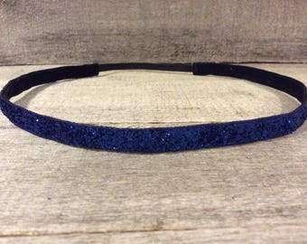 Royal Blue Sparkle Nonslip Headband,  Noslip Headband, Workout Headband, Sports Headband, Running Headband, Athletic Headband