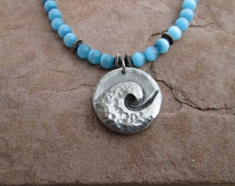 Ocean Wave Water Spirit Necklace
