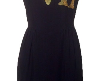 VTG 90s Moschino Couture! VIP Sequin Dress XS 2/4 38