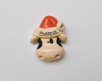 """Personalized Merry Christ""""moooo""""s  Cow Ornament/Dairy Ornament / Farm Animal /cow /"""